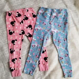 ⚘Minnie Mouse 3T & 4T Rainbow Heart Bow Leggings
